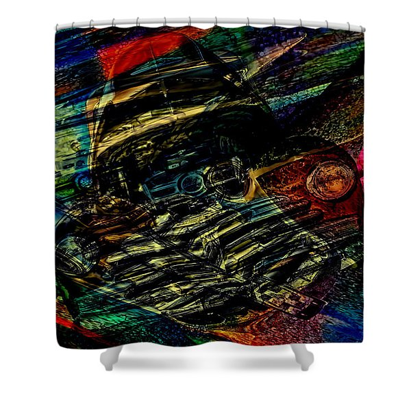 1948 Chevy Abstract Art Shower Curtain