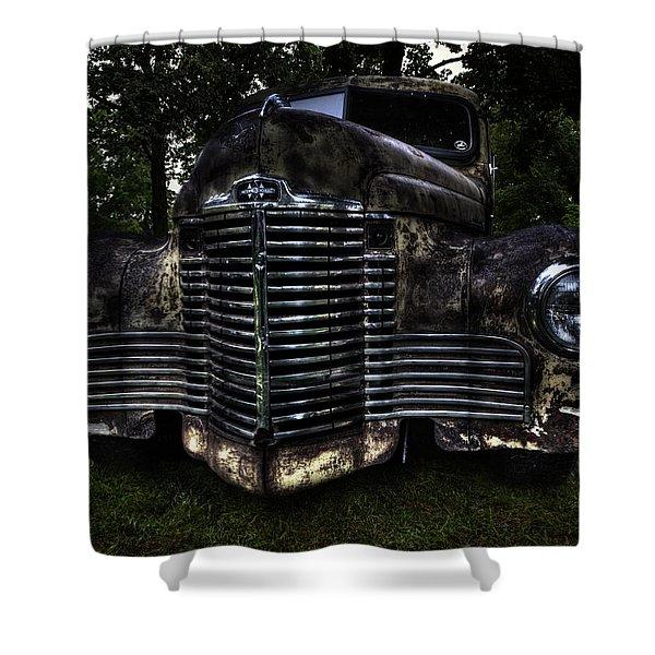 1948 International Truck Shower Curtain