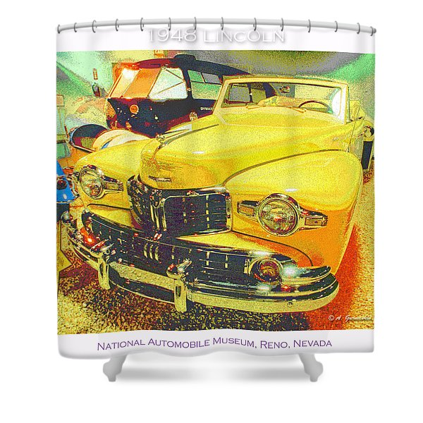 1948 Lincoln Classic Automobile Shower Curtain