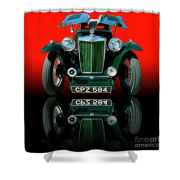 1948 Mg Tc Roadster Shower Curtain