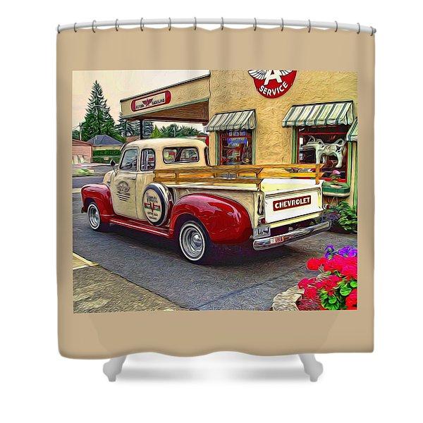 1949 Chevy Truck Shower Curtain