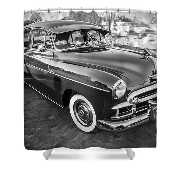 1950 Chevrolet Sedan Deluxe Painted Bw   Shower Curtain