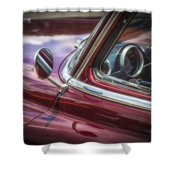 1950 Chevrolet Side View Mirror Shower Curtain