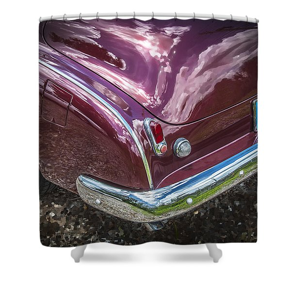 1950 Chevrolet Tailights And Bumper Shower Curtain