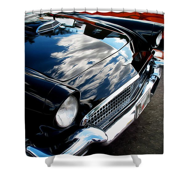 1950s Ford Thunderbird Shower Curtain