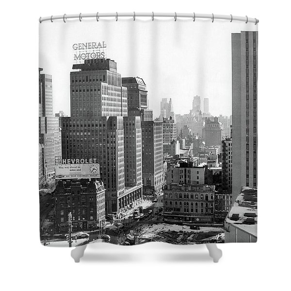 1950s Looking South At 61st Street Shower Curtain
