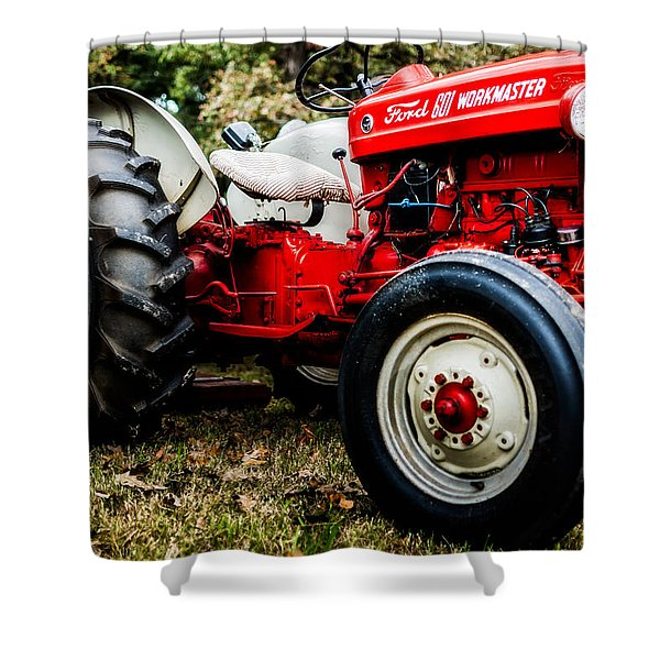 1950s-vintage Ford 601 Workmaster Tractor Shower Curtain