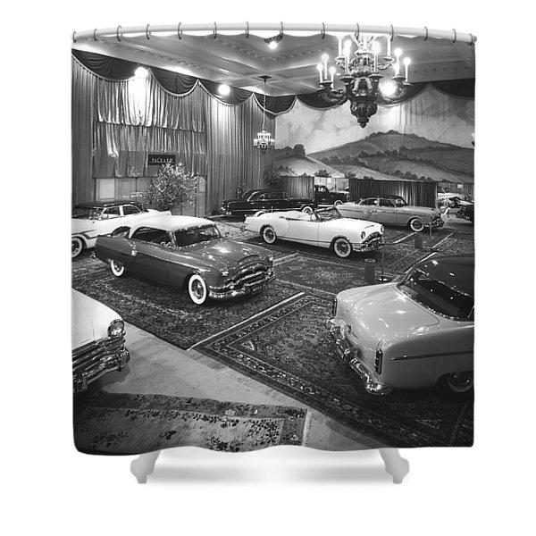 1953 Auto Show Shower Curtain