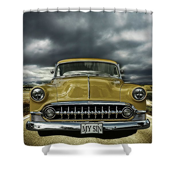 1953 Chevy Shower Curtain