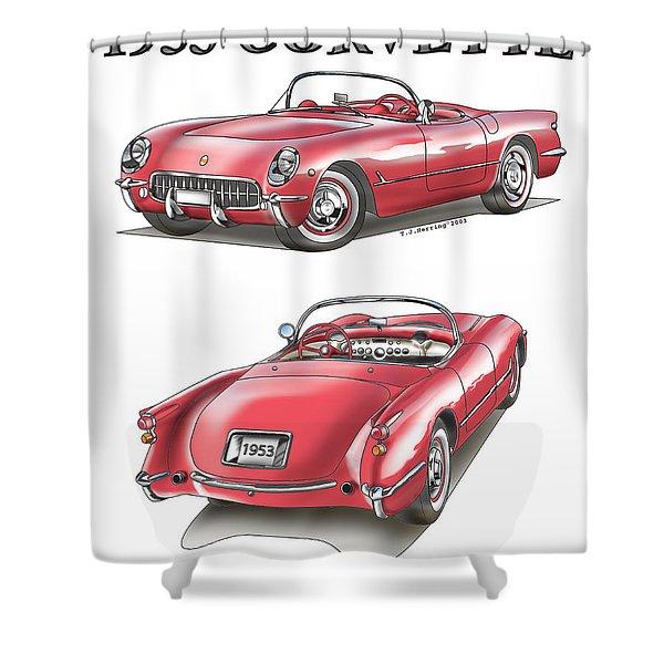 1953 Corvette Shower Curtain