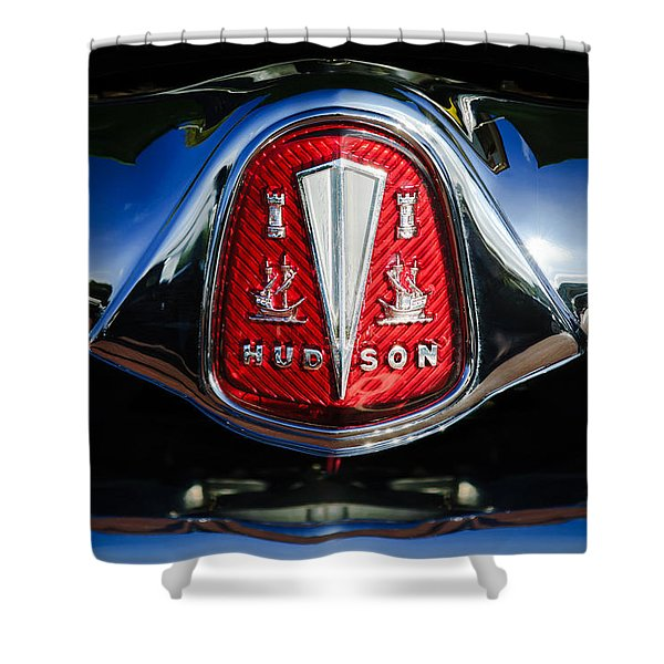 1953 Hudson Hornet Sedan Emblem Shower Curtain