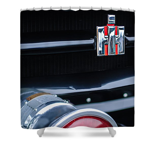 1954 International Harvester R140 Woody Grille Emblem Shower Curtain