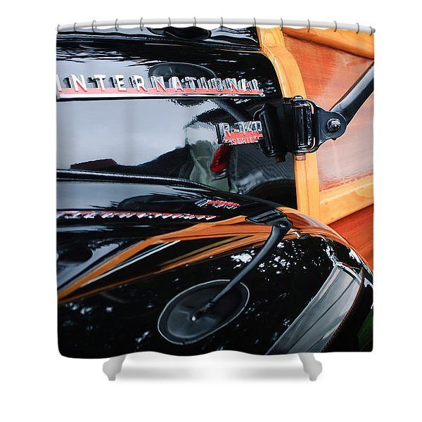 1954 International Harvester R140 Woody Wagon  Shower Curtain