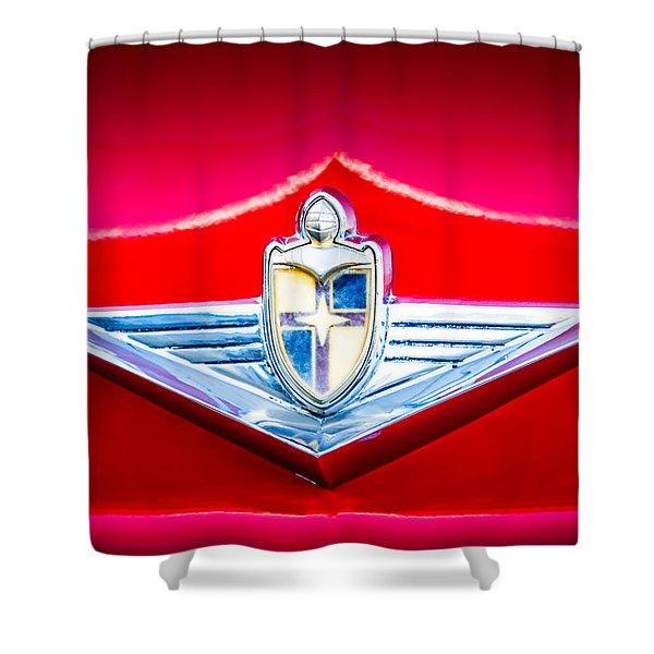 1954 Lincoln Capri Emblem -1170c Shower Curtain