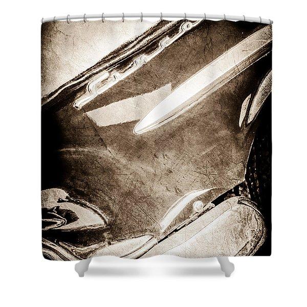 1954 Lincoln Capri Side Emblem -0742s Shower Curtain