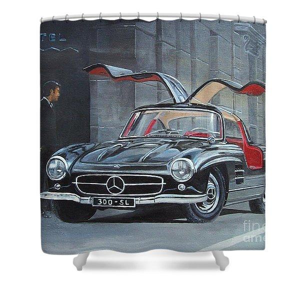 1954 Mercedes Benz 300 Sl Gullwing Shower Curtain