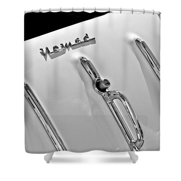1955 Chevrolet Belair Nomad Tailgate Emblem Shower Curtain
