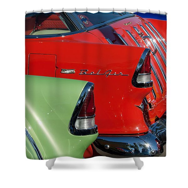 1955 Chevrolet Belair Nomad Taillights Shower Curtain