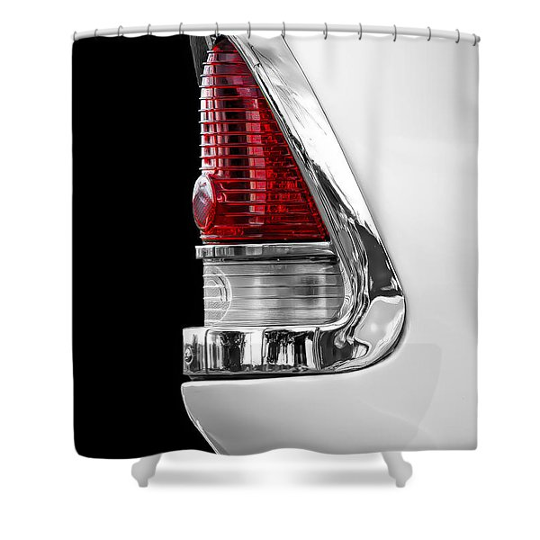 1955 Chevy Rear Light Detail Shower Curtain