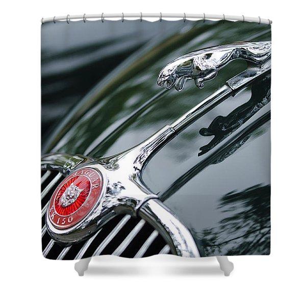Jaguar Xk 150 Hood Ornament  Shower Curtain