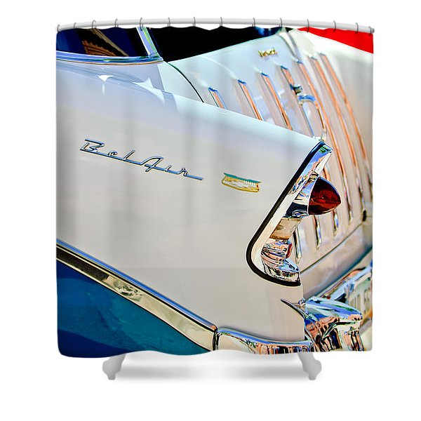 1956 Chevrolet Belair Nomad Taillights Shower Curtain
