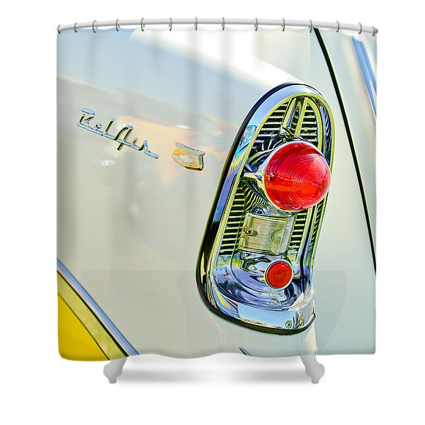 1956 Chevrolet Beliar Nomad Taillight Emblem Shower Curtain