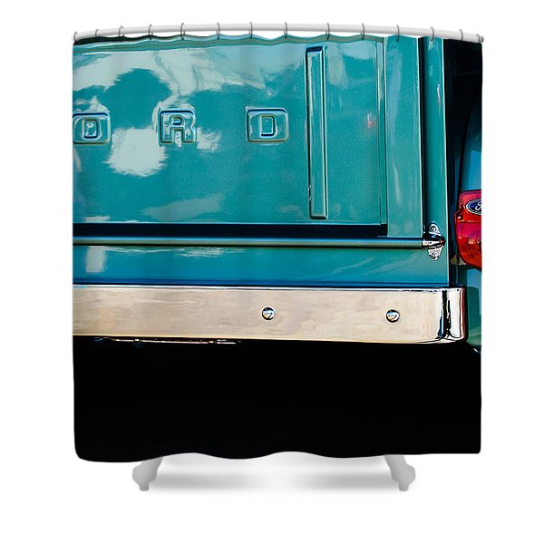 1956 Ford F-100 Truck Taillight 2 Shower Curtain