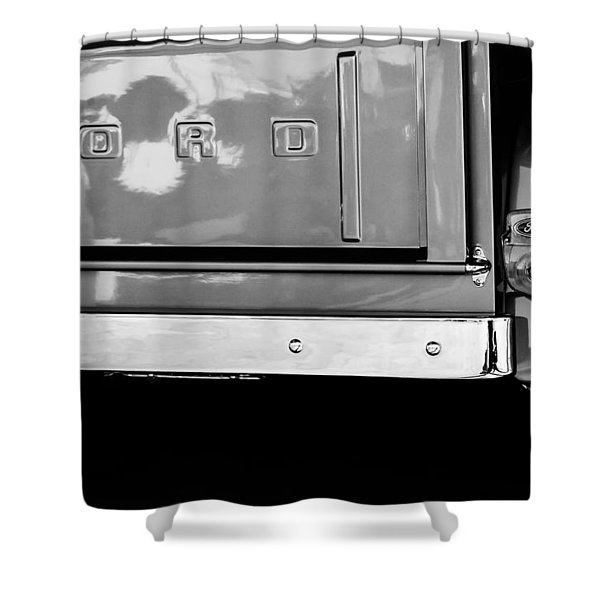 1956 Ford F-100 Truck Taillight Emblem Shower Curtain
