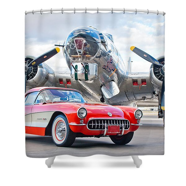 1957 Chevrolet Corvette Shower Curtain
