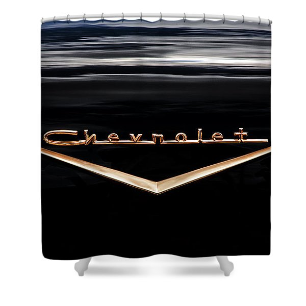 1957 Chevrolet Emblem Shower Curtain