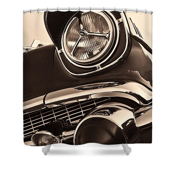 1957 Chevy Details Shower Curtain