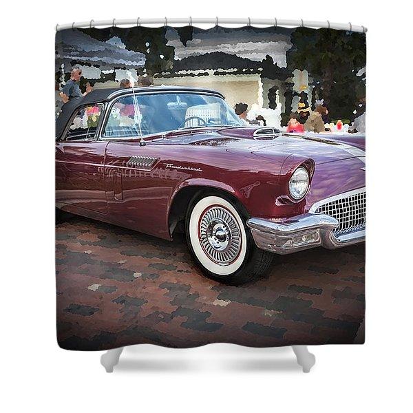 1957 Ford Thunderbird Convertible  Shower Curtain