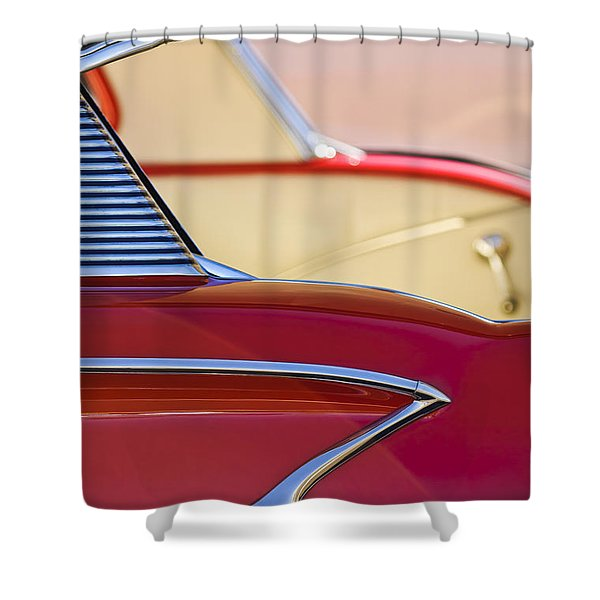 1958 Chevrolet Belair Abstract Shower Curtain