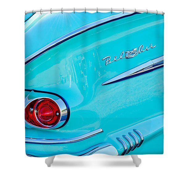 1958 Chevrolet Belair Taillight 2 Shower Curtain