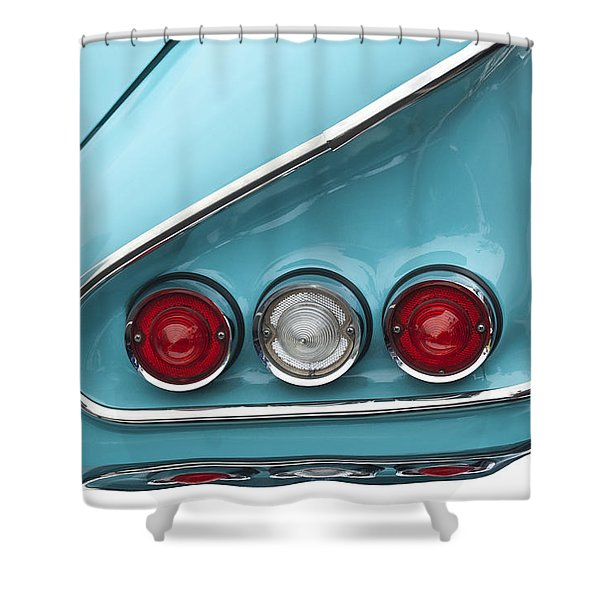 1958 Chevrolet Impala Taillights  Shower Curtain