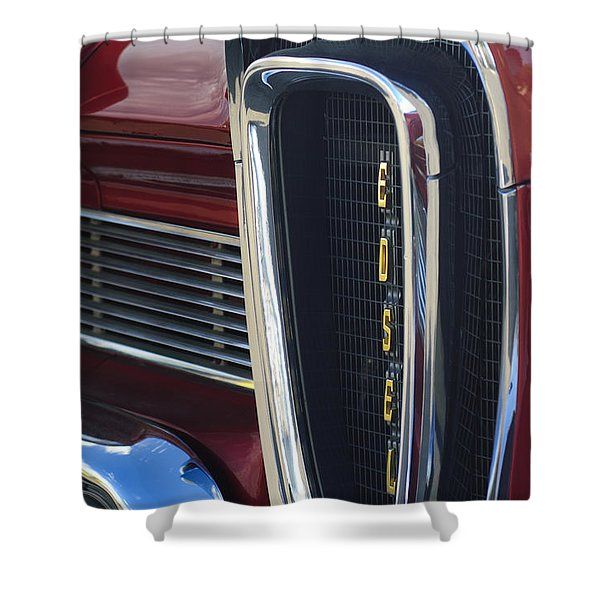 1958 Edsel Pacer Grille 2 Shower Curtain