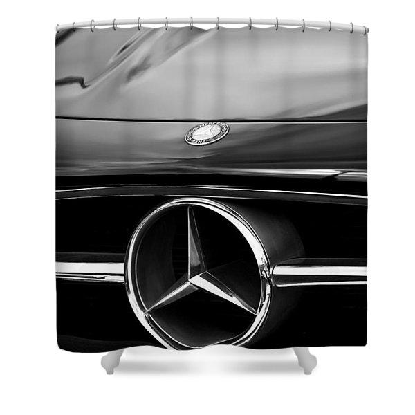 1958 Mercedes-benz 300sl Roadster Grille Emblem Shower Curtain