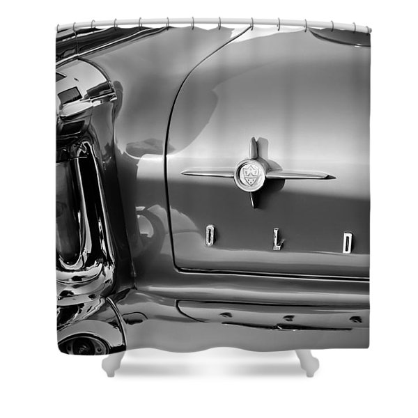 1958 Oldsmobile 98 Taillight Emblem Shower Curtain