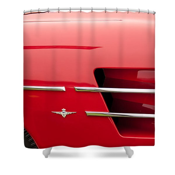 1958 Pegaso Z-103 Touring Berlinetta Side Emblem -1195c Shower Curtain