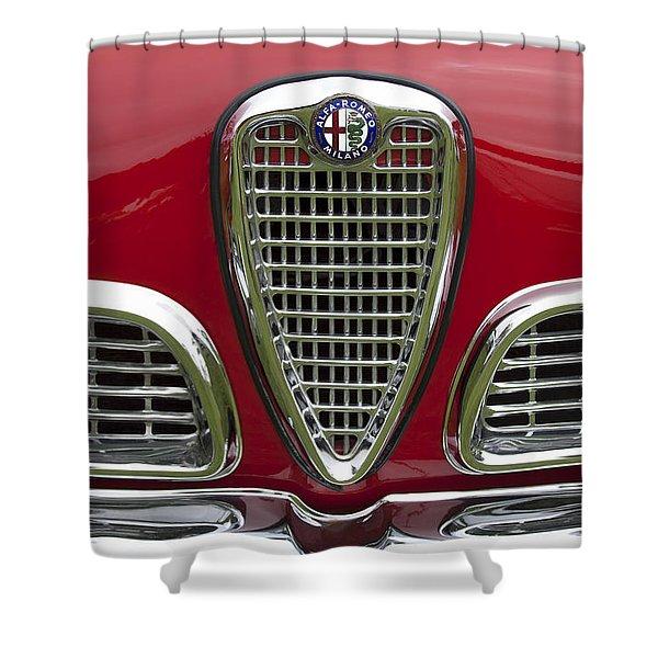 1959 Alfa Romeo Giulietta Sprint Grille Shower Curtain