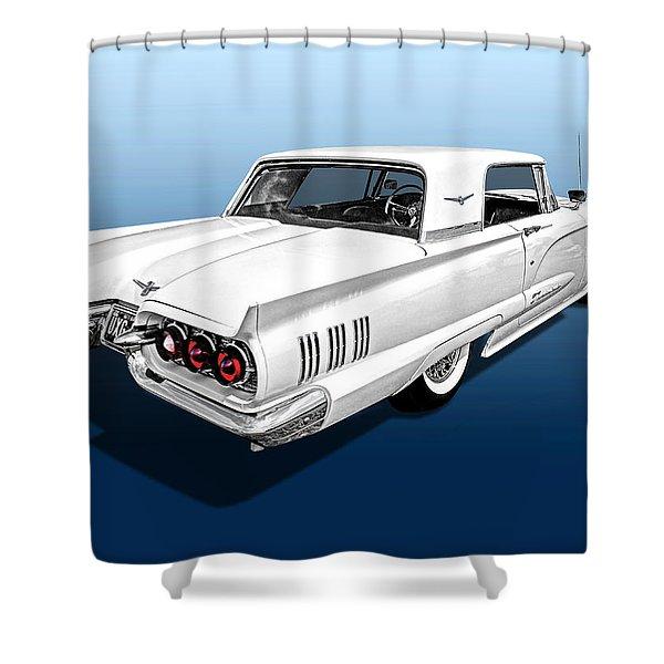 1960 Ford Thunderbird Shower Curtain