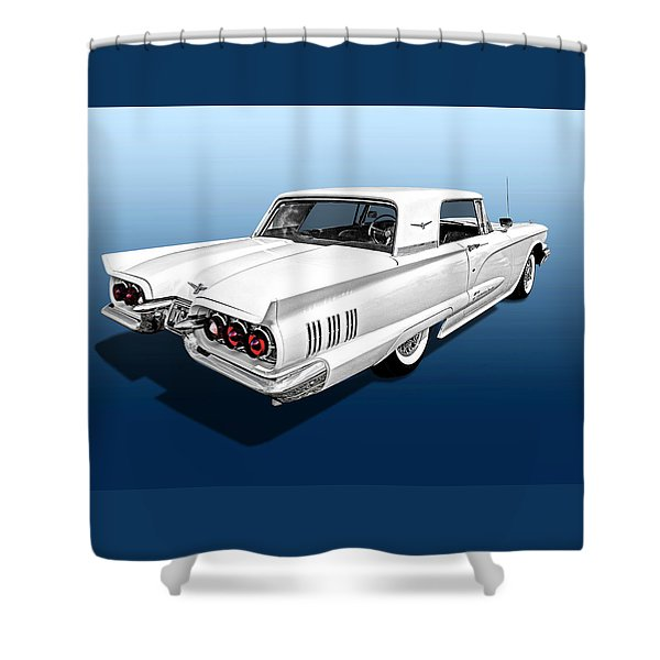 1960 Ford Thunderbird Shower Curtain