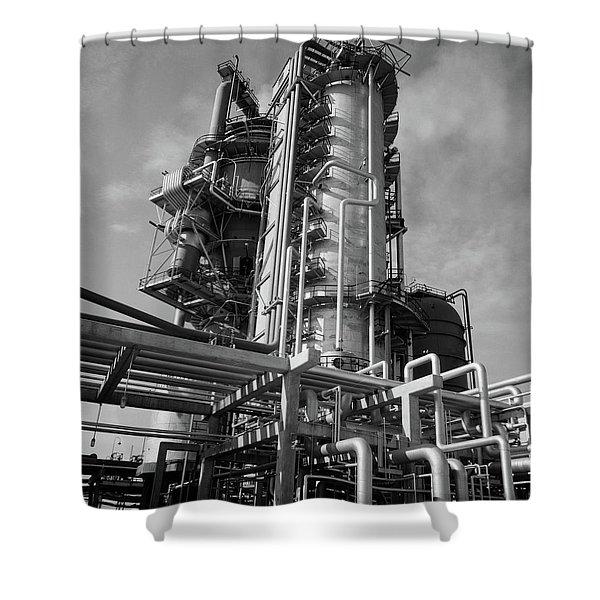 1960s Crude Oil Distillation Tower Shower Curtain