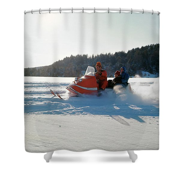 1960s Family Mother Father Daughter Shower Curtain