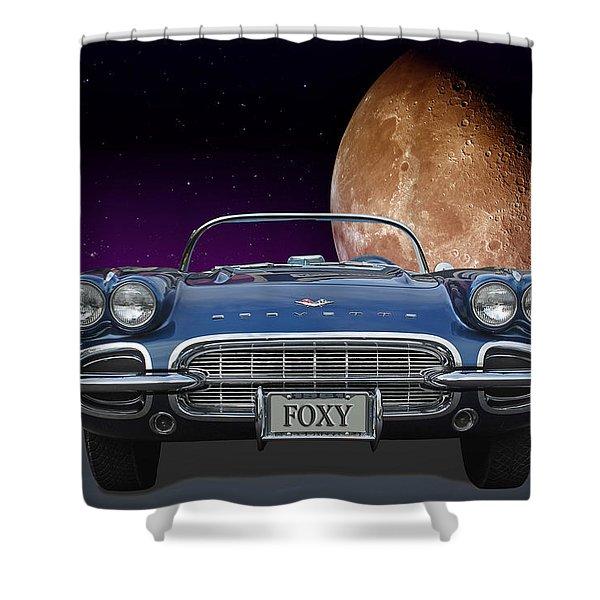 1961 Corvette Shower Curtain
