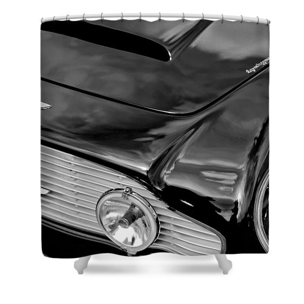 1963 Aston Martin Db4 Series V Vintage Gt Grille Emblem Shower Curtain