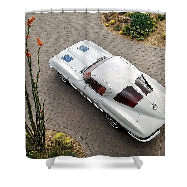 1963 Chevrolet Corvette Split Window -440c Shower Curtain