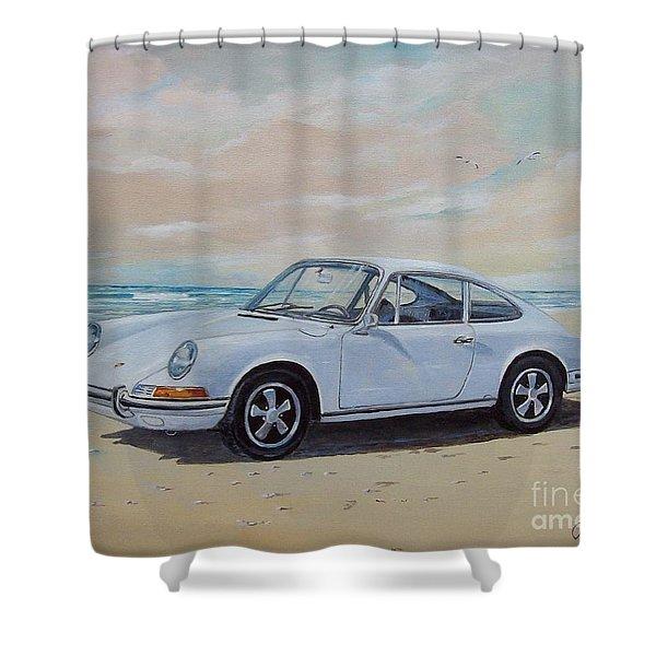 1967 Porsche 911 S Coupe Shower Curtain