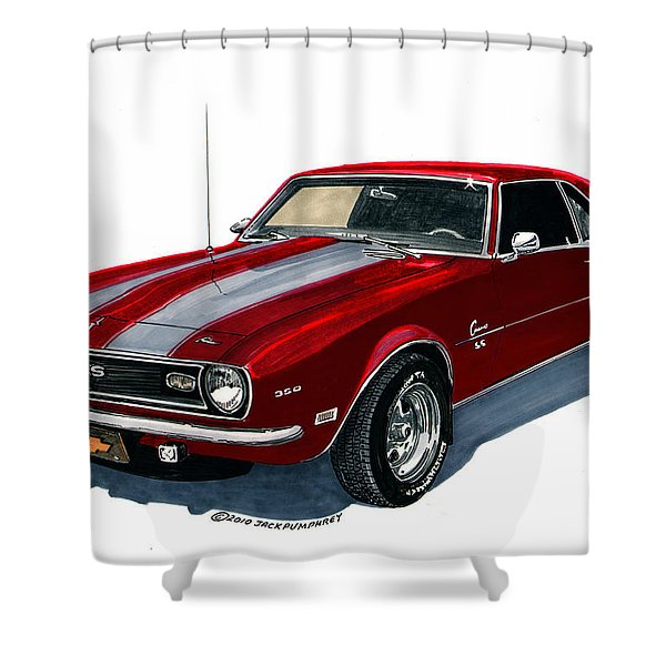 1968 Camaro Ss 350 Shower Curtain