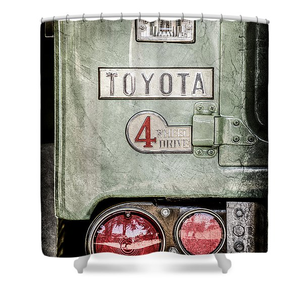 1969 Toyota Fj-40 Land Cruiser Taillight Emblem -0417ac Shower Curtain